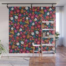 Flower pattern by Veronique de Jong Wall Mural