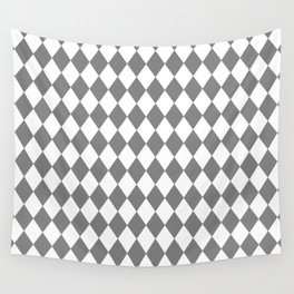 Diamonds (Gray/White) Wall Tapestry