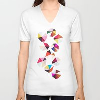 diamonds V-neck T-shirts featuring diamonds by silviarossana