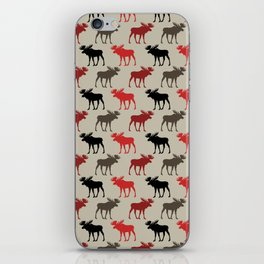 Bull Moose Pattern iPhone Skin
