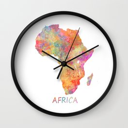 Africa map 2 Wall Clock
