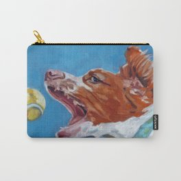 Brittany Spaniel Dog Portrait Carry-All Pouch