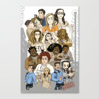 oitnb Canvas Prints featuring OITNB Fanart by StephDere