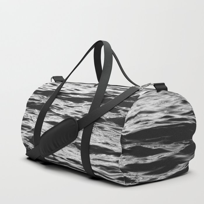Marble Waters Black and White Duffle Bag