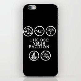 Divergent - Choose Your Faction (White) iPhone Skin