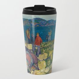 George Bellows, Dock Builders, 1916 Travel Mug