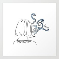 Cthulhu Girl Art Print