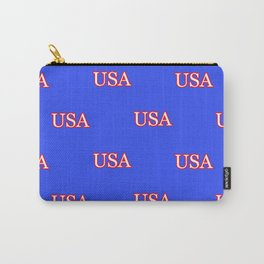 USA - Blue Carry-All Pouch