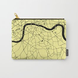 London Yellow on Black Street Map Carry-All Pouch