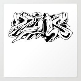 DZNS All-over! Art Print