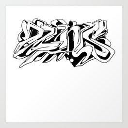 DZNS All-over! Art Print