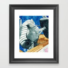 Office Cat Framed Art Print
