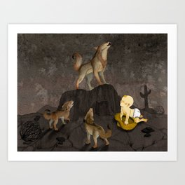 Teaching the Pups Art Print