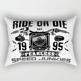 Biker Rider - Ride OR Die - Biker saying quote Rectangular Pillow