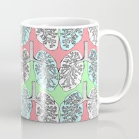 lungs Mugs featuring Lungs by Charlotte Goodman