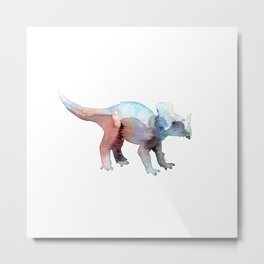 Triceratops / Abstract animal portrait. Metal Print