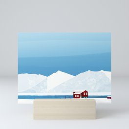Ice Cabin Mini Art Print
