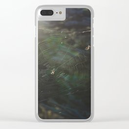Spiderwebs 2 Clear iPhone Case