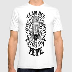 Clan del Pepe Mens Fitted Tee White X-LARGE