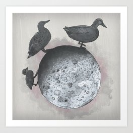 the duck side of the moon Art Print