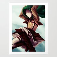 snk Art Prints featuring SNK!Cry by Kiwa