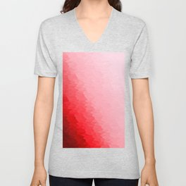 Red Texture Ombre Unisex V-Neck