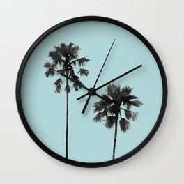 Blue palm beach Wall Clock