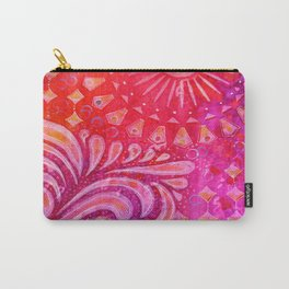 Joy in Orange and Purple Carry-All Pouch