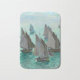 """Claude Monet """"Bateaux de pêche, temps calme"""" Bath Mat"""