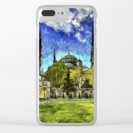 Blue Mosque Istanbul Art Clear iPhone Case