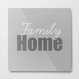 Family Home Metal Print