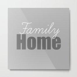 Family Home Metal Print