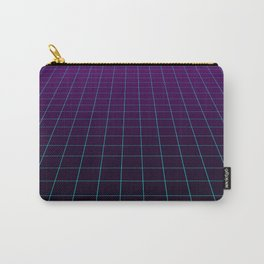 Minimalist Retro Vibes Gridlines Carry-All Pouch