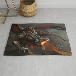 Dragon and Knight Rug