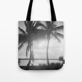 Black and White Florida Palm Trees Photograph (1915) Tote Bag