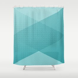 COOL HALFTONE Shower Curtain