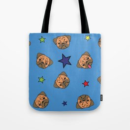 Stars and The Pugs Tote Bag