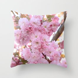 Pink Blossoms Beauty Throw Pillow