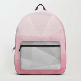 pink and grey polygon 2018 Backpack