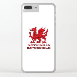 Nothing Is Impossible Red Dragon Clear iPhone Case