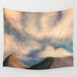 Clouds and Mountains Wall Tapestry