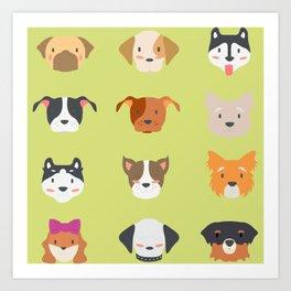 cheerful dog  Art Print
