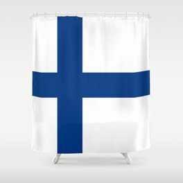 National flag of Finland Shower Curtain