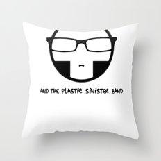 Plastic Sinister Band Logo Throw Pillow