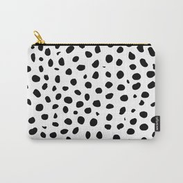 Black And White Cheetah Print Carry-All Pouch