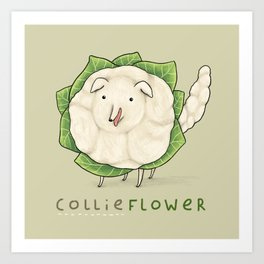 Collieflower Art Print
