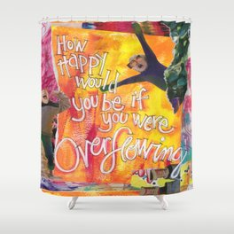 Overflowing Shower Curtain