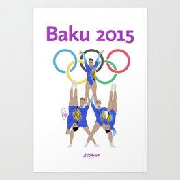 Baku2015 Art Print