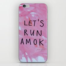 let's run amok iPhone & iPod Skin
