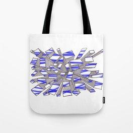 Blue Fragmentation Tote Bag